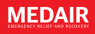 Medair red logo with tagline EN